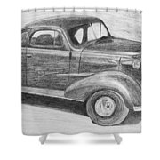 1937 Chevy Shower Curtain