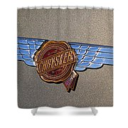 1937 Chrysler Airflow Emblem Shower Curtain