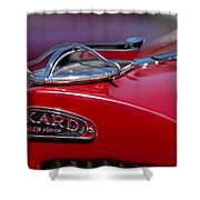 1937 Packard 115-c Cabriolet Hood Ornament  Shower Curtain