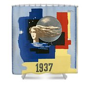 1937 Paris Exposition Shower Curtain