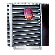 1937 Studebaker Grille Emblem Shower Curtain