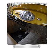 1938 Ford Roadster Dashboard Shower Curtain