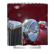1938 Mg Ta Hood Ornament Shower Curtain