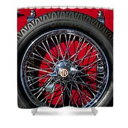 1938 Mg Ta Spare Tire Shower Curtain