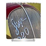 1938 Steyr 220 Glaser Roadster Grille Emblem Shower Curtain