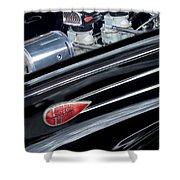 1939 Lincoln Zephyr Engine Shower Curtain