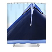 1939 Lincoln Zephyr Hood Ornament 2 Shower Curtain