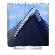 1939 Lincoln Zephyr Hood Ornament Shower Curtain