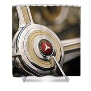 1939 Mercedes-benz 540k Special Roadster Steering Wheel Shower Curtain