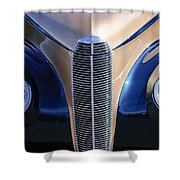 1940 Cadillac Lasalle Convertible Grille Shower Curtain