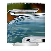 1940 Chevrolet Hood Ornament 2 Shower Curtain