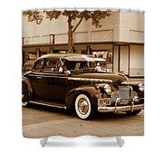 1940 Chevrolet Special Deluxe - Sepia Shower Curtain