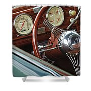 1940 Chevrolet Steering Wheel Shower Curtain
