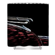 1940 Chevy Hood Ornament Take 2 Shower Curtain