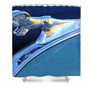 1940 Dodge Ram Hood Ornament Shower Curtain
