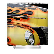 1940 Flames Shower Curtain