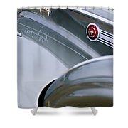 1941 Packard 1907 Custom Eight One-eighty Lebaron Sport Brougham Side Emblems Shower Curtain