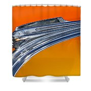 1941 Pontiac Chief Hood Ornament Shower Curtain