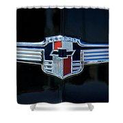 1942 Chevrolet Emblem Shower Curtain