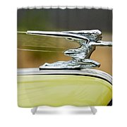 1942 Packard Hood Ornament Shower Curtain