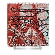 1944 Netherlands De Ruyter Stamp - Rotterdam Cancelled Shower Curtain