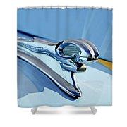 1946 Dodge Ram Hood Ornament Shower Curtain