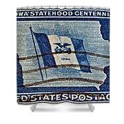1946 Iowa Statehood Stamp Shower Curtain
