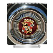 1947 Cadillac Emblem 2 Shower Curtain
