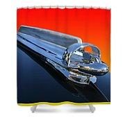 1947 Chevrolert Hood Ornament Shower Curtain