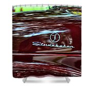 1947 Studebaker Name Plate Shower Curtain