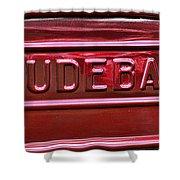 1947 Studebaker Tail Gate Cherry Red Shower Curtain