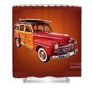 1947 Woody Shower Curtain