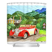 1948 Alvis English Countryside Shower Curtain