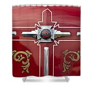 1948 American Lefrance Fire Truck Emblem Shower Curtain