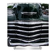1948 Chevy Coupe Grille Shower Curtain