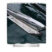 1948 Chevy Coupe Hood Ornament Shower Curtain
