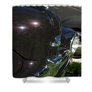 1948 Ford Super Deluxe Hood Emblem Shower Curtain