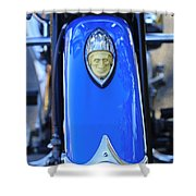 1948 Indian Chief Motorcycle Fender Shower Curtain