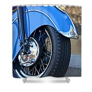 1948 Indian Chief Motorcycle Wheel Shower Curtain