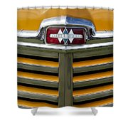 1948 International Hood Emblem 2 Shower Curtain