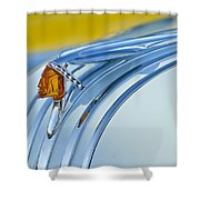 1948 Pontiac Hood Ornament 2 Shower Curtain