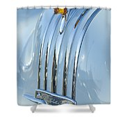 1948 Pontiac Hood Ornament 3 Shower Curtain