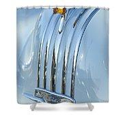 1948 Pontiac Hood Ornament 3 Shower Curtain