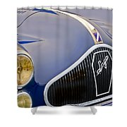 1948 Talbot-lago T-26 Saoutchik Grand Sport Coupe Grille Emblem Shower Curtain