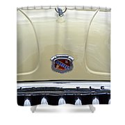 1949 Buick Super 8 Grill  Shower Curtain