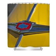 1949 Chevrolet Sedan Hood Emblem Shower Curtain