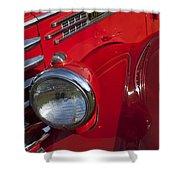 1949 Diamond T Truck Emblem Shower Curtain