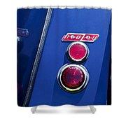 1949 Healey Silverstone Taillight Emblem Shower Curtain