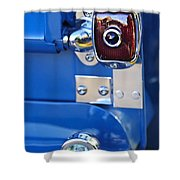 1950 Chevrolet 3100 Pickup Truck Taillight Shower Curtain