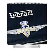 1950 Ferrari Carrozz Touring Milano Emblem Shower Curtain